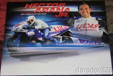 2012 Hector Arana, Jr. Lucas Oil Buell Pro Stock Motorcycle NHRA postcard