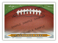 The Autograph Card Blank Signature cards 25 FOOTBALL
