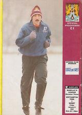 Football Programme>NORTHAMPTON TOWN v BARNET Jan 1993