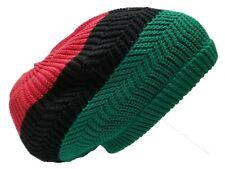 Africa Beret Tam Hat Rasta Slouch Beanie Cap Dreadlocks Dreads Red Black Green