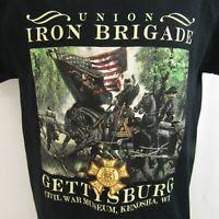 Union Iron Brigade T-Shirt M Gettysburg Civil War Museum Medium Black
