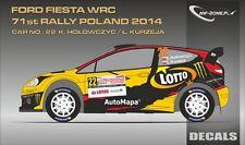DECALS 1/43 FORD FIESTA WRC  #22 - HOLOWCZYC - RALLYE DE POLOGNE 2014 - D43324