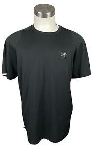 Arc'teryx Men's Large Raglan T-Shirt Short Seeve Black Spandex Arc'Word