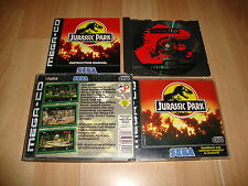 JURASSIC PARK FOR SEGA MEGA CD MEGA-CD GAME GERMANY VERSION USED COMPLETE