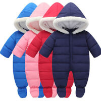 Newborn Infant Baby Winter Jumpsuit Romper Warm DownBoys Girls Climbing Clothes