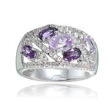 Oval Amethyst Sterling Silver Fine Rings