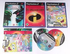 3 Spitzen KINDER Spiele für Playstation 2 z.B. LEGO BIONICLE; SPONGEBOB; UNGLAUB