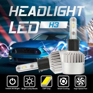 H3 1320W 198000LM CSP LED Headlight Conversion Fog Lamp Bulbs Kit 6000K White