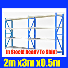 NEW 2m X 3m Steel Metal GARAGE STORAGE SHELVING RACKING Shelves