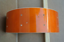 "LUDWIG 14"" ACCENT CS CUSTOM SNARE DRUM SHELL in AMBER for YOUR DRUM SET! #V749"