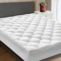 Starcast Extra Thick Queen - size Mattress Topper Cooling Mattress Pad Cover Bed