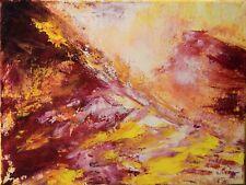 """Tableau abstrait Peinture, Paysage, signé HZEN """"SUR LE DOS DE LA MONTAGNE"""" 40x30"""