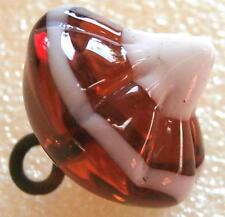 UNIQUE Antique!!!! Charmstring Glass Paperweight Button (1pc) #D277 - RARE!!!!