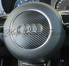 Noir fibre de carbone airbag volant wrap s rs A1 A3 A4 A5 A6 A8 tt Q3 Q5 Q7
