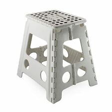 Plastic Multi Purpose Folding Step Stool Home Kitchen Carry Storage Handy Black
