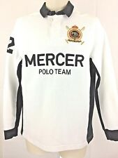 Polo Ralph Lauren Rugby Shirt Size Small Men's L/S White Mercer Team Winter Cup