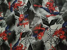 Fabric for Sewing Crafts Quilting Mask SPIDERMAN Kids  9x21 SCRAP Cotton