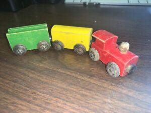 (3) Vintage BRIO TRAIN'S  Tanker Car Wooden Railway Thomas Compatible
