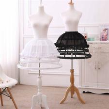 Lolita Dress 4 Hoop Chiffon Crinoline Cage Bustle Petticoat Adjustable Pannier
