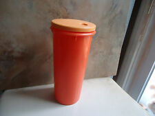Tupperware Drink Container 4 Cup Holds Straw 262 Orange