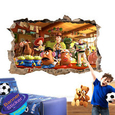 CARTOON CHARACTERS TOYS STORY WALL STICKER POSTER ROOM DECOR DECAL MURAL YL9