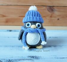 Crochet penguin amigurumi animals, Crochet bird handmade doll, Stuffed penguin