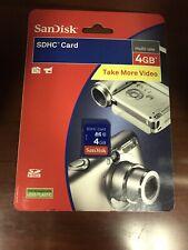 SanDisk Mult-Use 4GB SDHC Card - New & Sealed