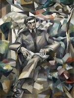 PAINTING GLEIZES PORTRAIT DRAMATIST JACQUES NAYRAL   POSTER ART PRINT HP3308