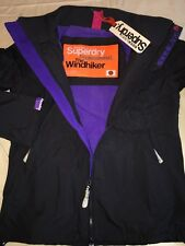 Genuine Superdry Polar Windhiker Jacket Dark Charcoal Grey Size S