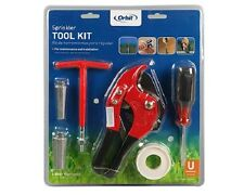 NEW Sprinkler Tool Kit- Screwdriver, Thread tape, Pipe Cutters, 15mm and 20mm Ri