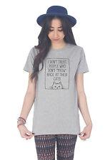 Markenlose Damen-T-Shirts für Katzen