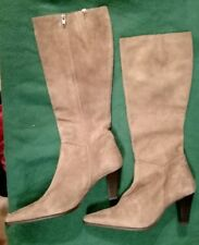 6a164d907681b Genuine Perlato Suede Knee High Boots Size UK 3.5 Euro 36 NEW