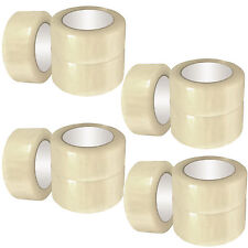 6 ROLLS OF CLEAR BUFF PARCEL PACKING TAPE PACKAGING CARTON SEALING 48MM X 66M