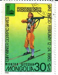 Mongolia - 1980 Olympic Winter Games - Lake Placid, USA