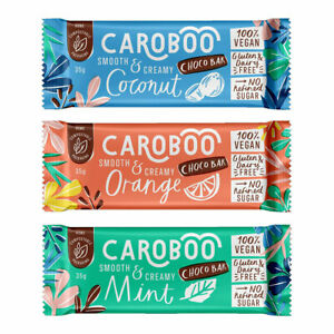 Caroboo Mixed Taster Pack - 3 x 35g Bars - Free Postage - EXP 31/10