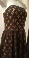 JUMP APPAREL PARTY HOMECOMING STRAPLESS BLACK LACE SHORT DRESS SZ XL XLARGE