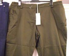 Rocha John Rocha - Choc Brown Trousers - Size 20 - 97% Cotton - Brand New Tags
