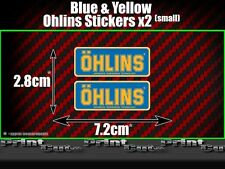 2x Small Ohlins Full Colour Decals Stickers Suspension, Bike, Shock, quad, car