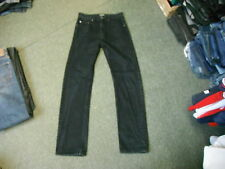"KAM Straight Jeans Waist 30"" Leg 33"" Black Faded Mens Jeans"