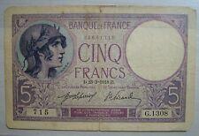 1918   France Cinq francs   23=3=1918