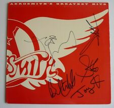 Aerosmith Greatest Hits All 5 Band Signed Autographed LP BAS BECKETT Certified