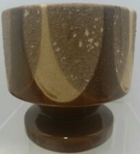 New listing Vintage - Haeger Ceramic - Flowers Pot Footed Brown Shades Made In Usa 5 Inches