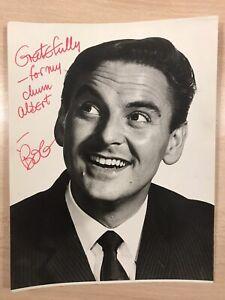 Genuine personally signed photo of Bob Monkhouse - 19cm X 25cm