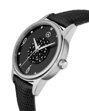 Orig. Mercedes-Benz Leder Armbanduhr Damen Glamour schwarz Swarovski® Kristallen