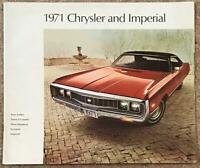 CHRYSLER RANGE LF Canadian Car Sales Brochure 1971 #CHR-71-E  NEW YORKER ++