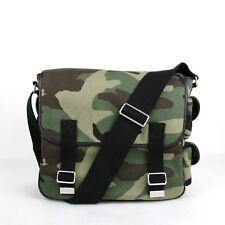 162d38fe87e1  1250 Saint Laurent YSL Green Brown Camouflage Canvas Messenger Bag 414769  3066