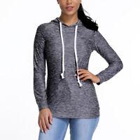 Women Long Sleeve Thin Hoodie Sweatshirt Hooded Jumper Sweater Pullover Top Coat