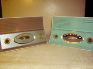 """TWO RCA 1-RA-64 Space-Age """"Jetsons""""-Great for You Tube Content-2 Sets for Repair"""