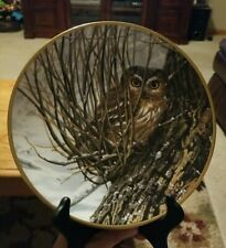 """Hamilton Collection """"Hiding Place"""" Noble Owls of America Collector's Plate"""