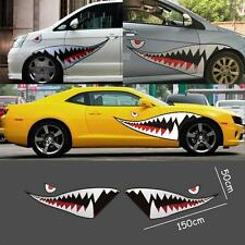 "59"" Full Size Flying Tigers Shark Mouth Teeth Die-cut Vinyl Car Sticker Decals"